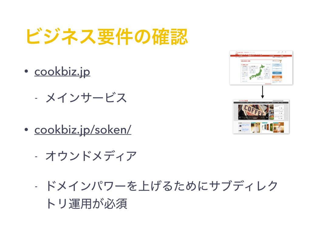 Ϗδωεཁ݅ͷ֬ • cookbiz.jp - ϝΠϯαʔϏε • cookbiz.jp/s...