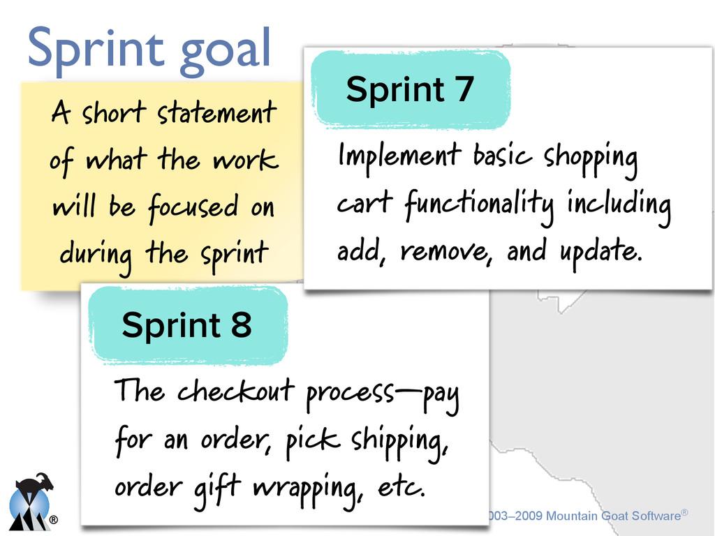 ® © 2003–2009 Mountain Goat Software® Sprint go...