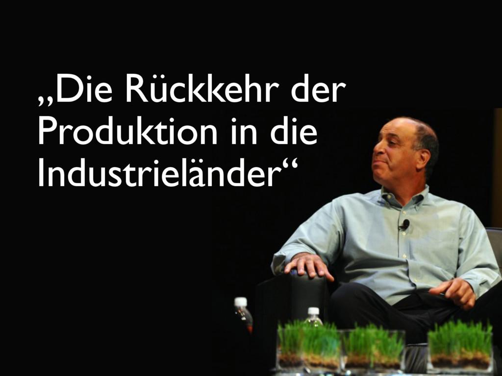 """""""Die Rückkehr der Produktion in die Industrielä..."""