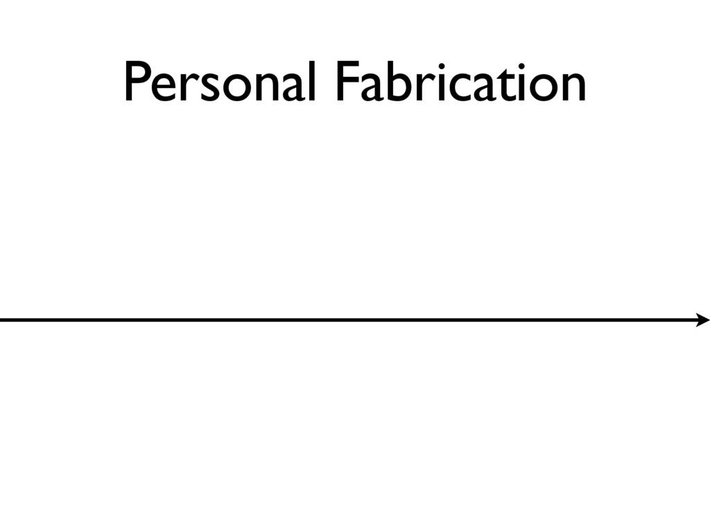 Personal Fabrication