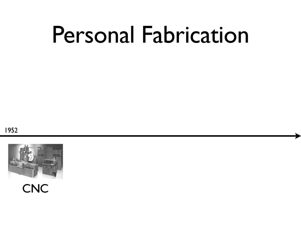 Personal Fabrication 1952 CNC