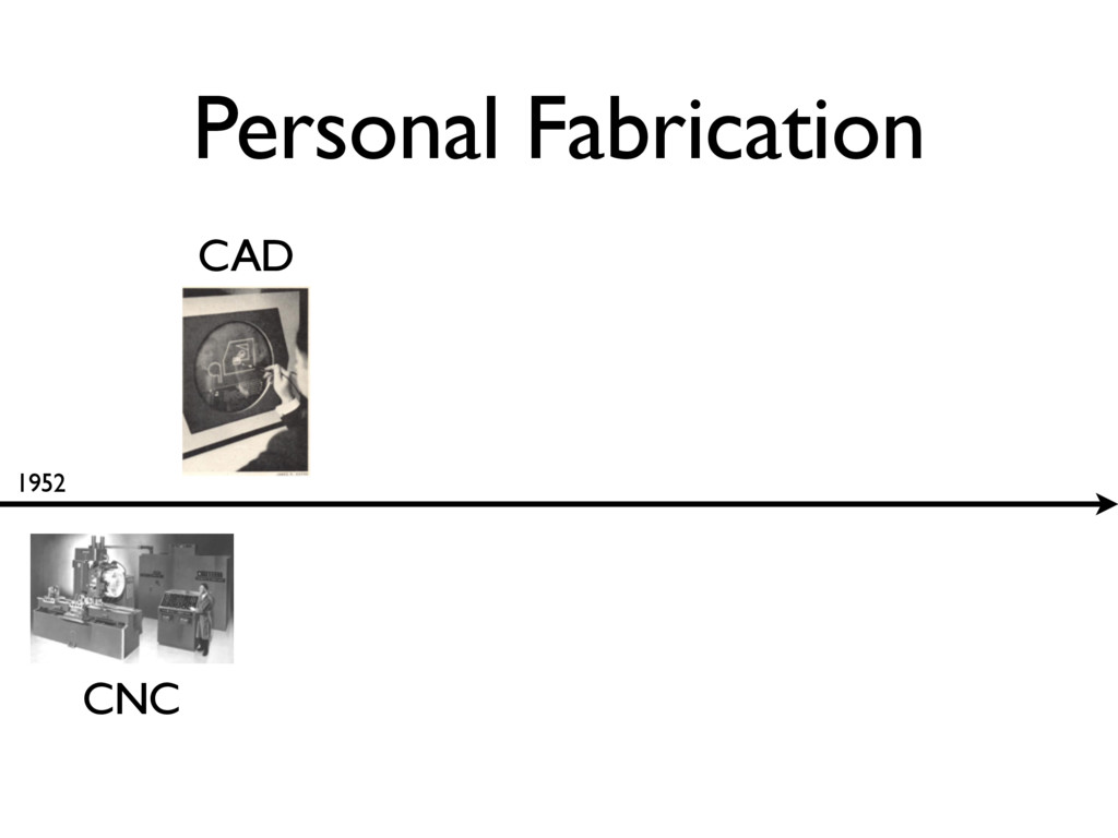 Personal Fabrication 1952 CNC CAD