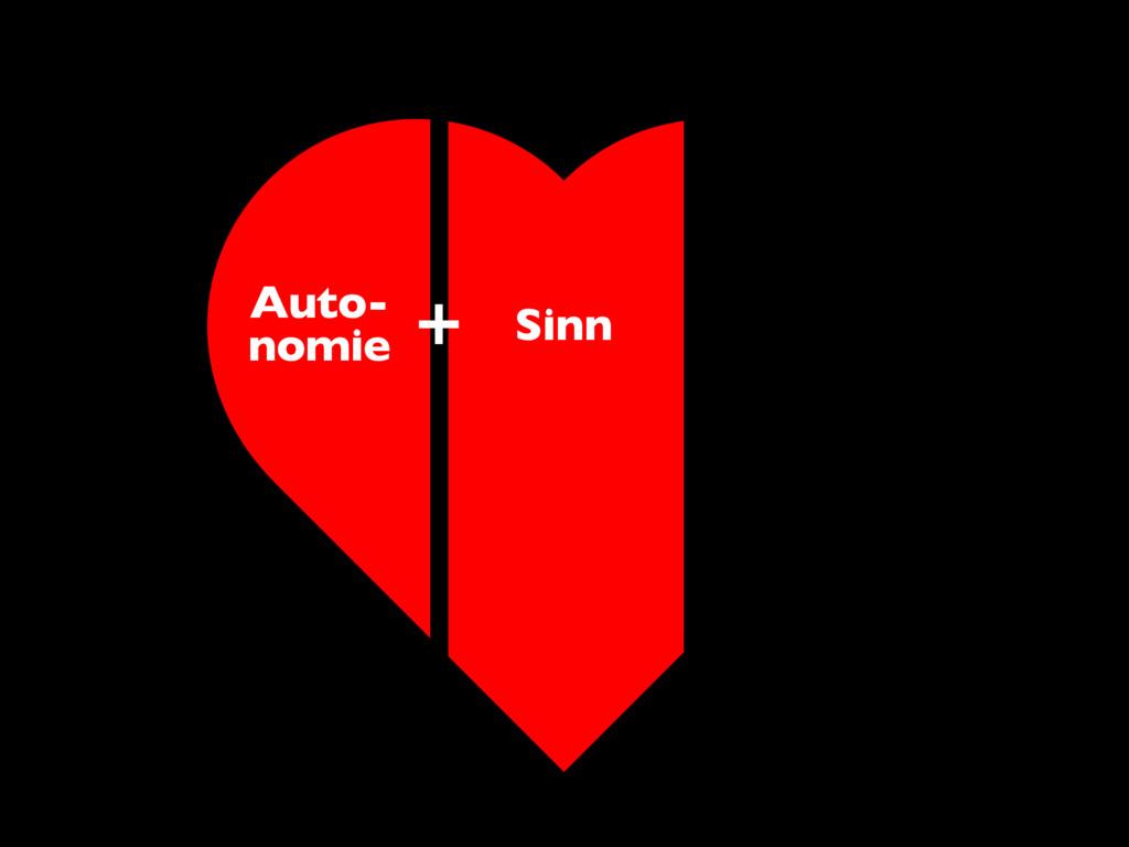Auto- nomie Sinn