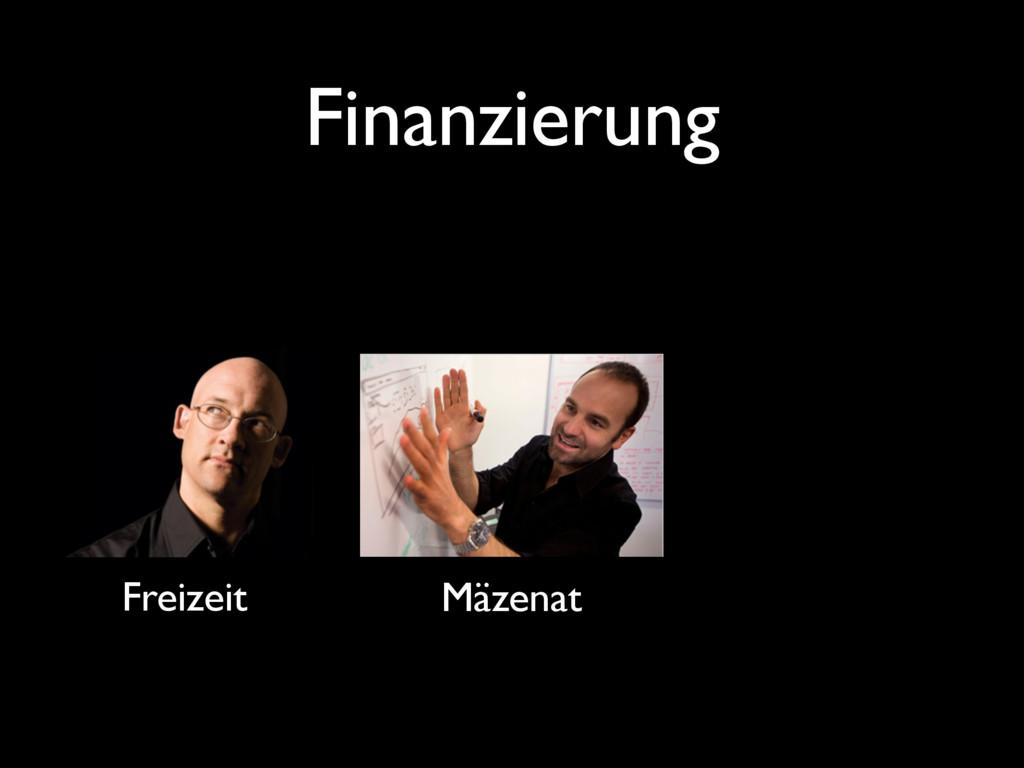 Finanzierung Freizeit Mäzenat