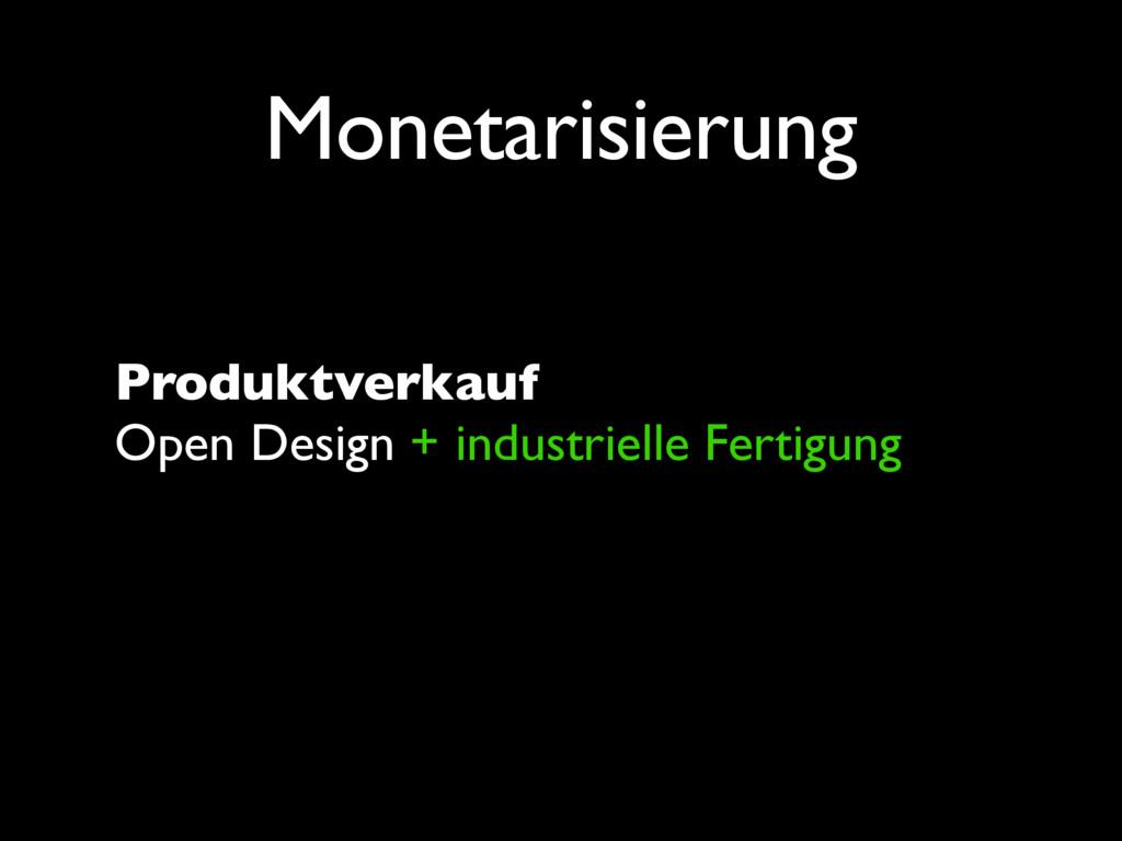 Monetarisierung Produktverkauf Open Design + in...