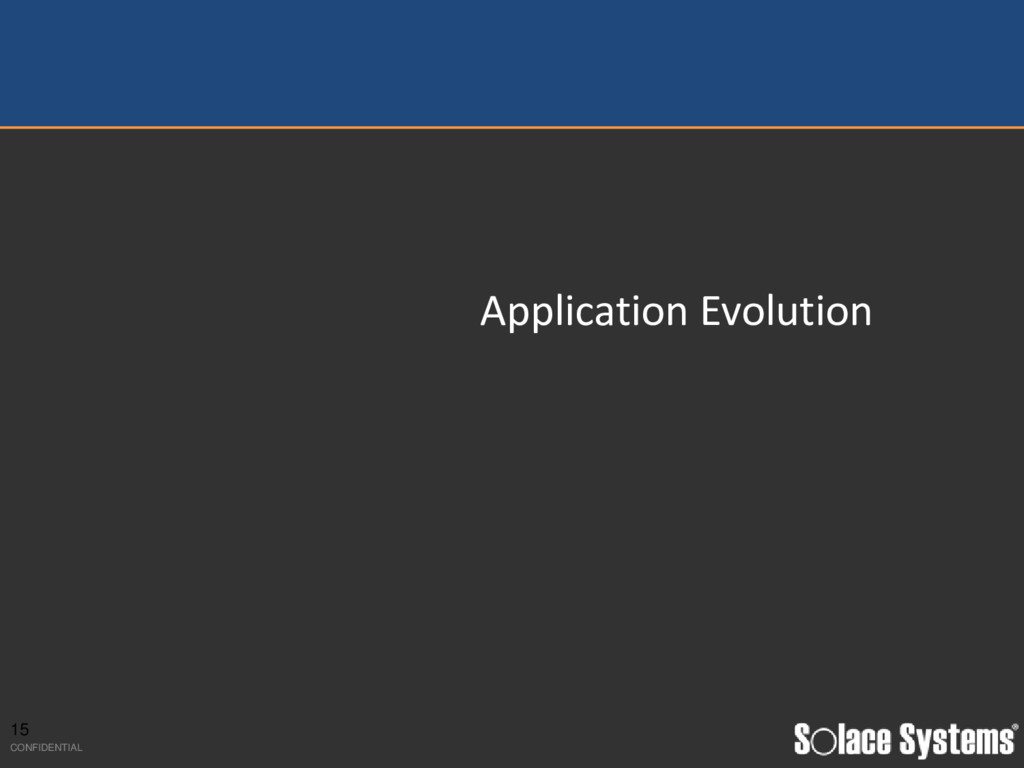 Application Evolution 15 CONFIDENTIAL