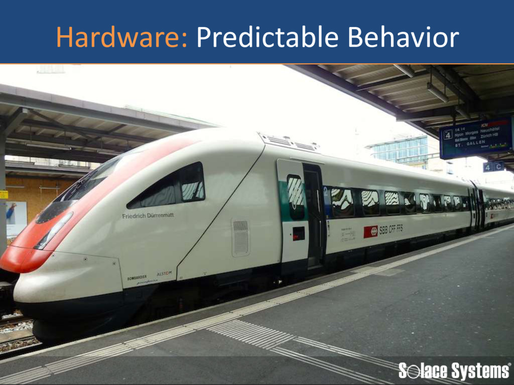 Hardware: Predictable Behavior