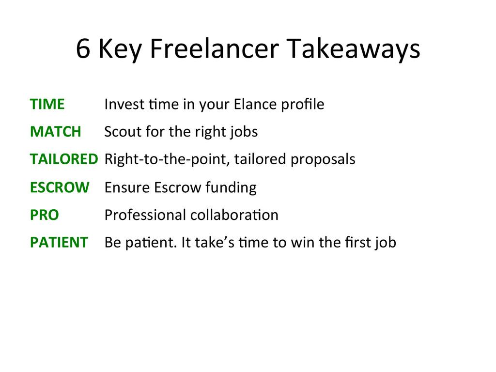 6 Key Freelancer Takeaways  TIME ...