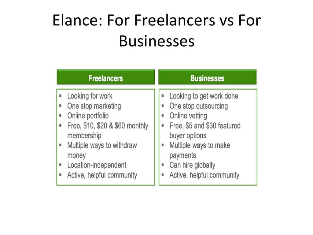 Elance: For Freelancers vs For  ...