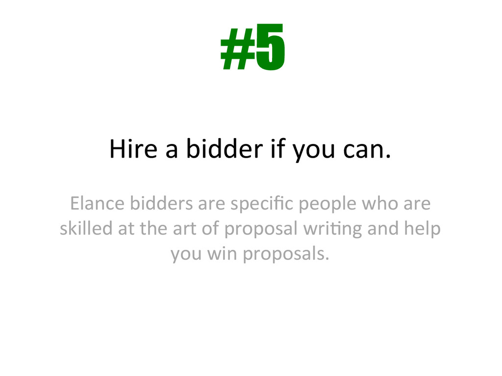Hire a bidder if you can.  ...