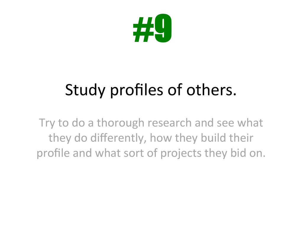Study profiles of others.    Try...
