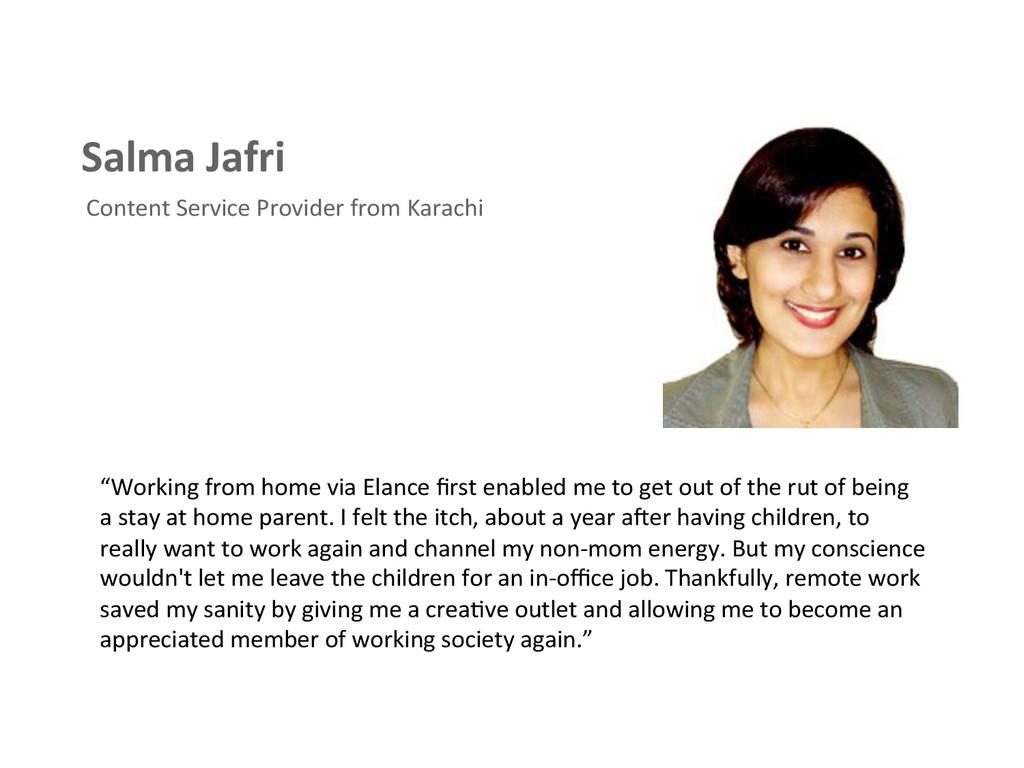 Salma Jafri  Content Service Provid...