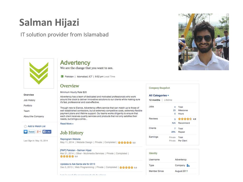 Salman Hijazi  IT soluAon provider...