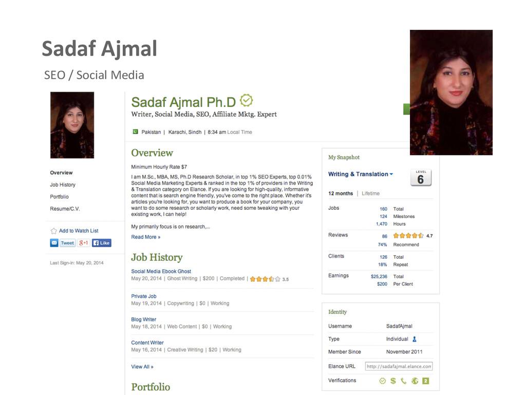 Sadaf Ajmal  SEO / Social Media...