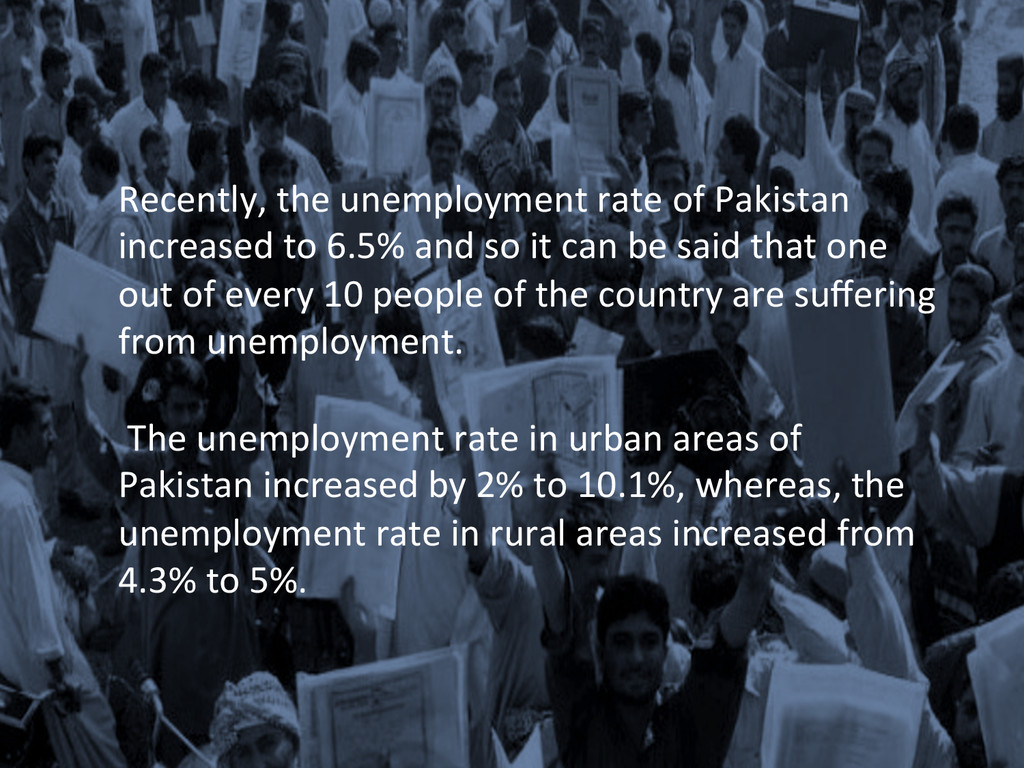 Recently, the unemployment rate of...
