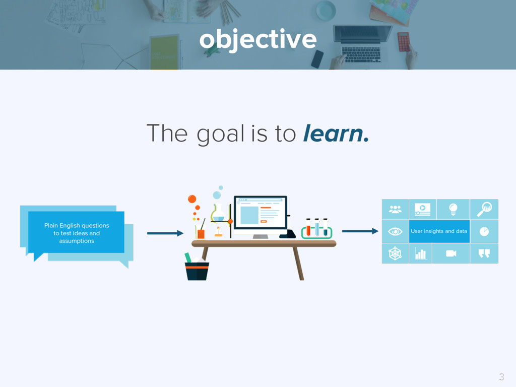 The goal is to learn. objective 3