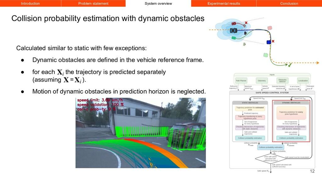 Collision probability estimation with dynamic o...