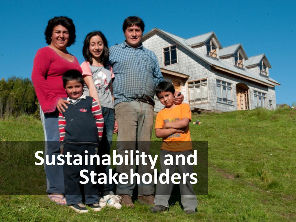 Sustainability and Stakeholders