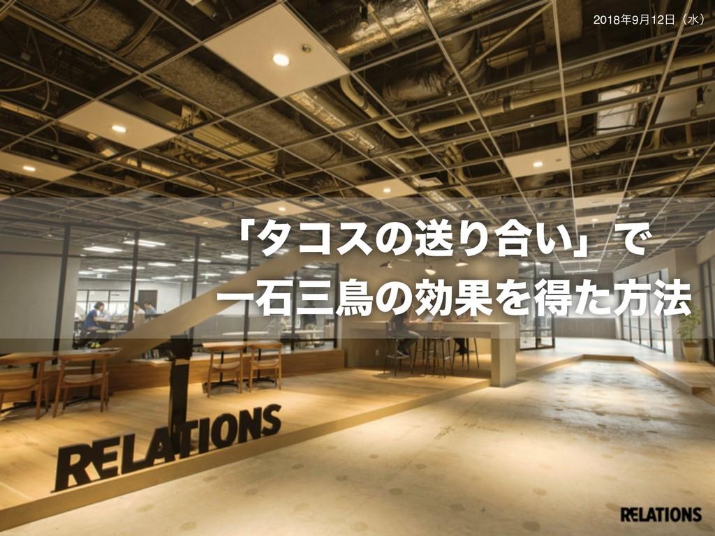 © 2018 Relations Inc. ʮλίεͷૹΓ߹͍ʯͰ ҰੴௗͷޮՌΛಘͨํ๏ ...