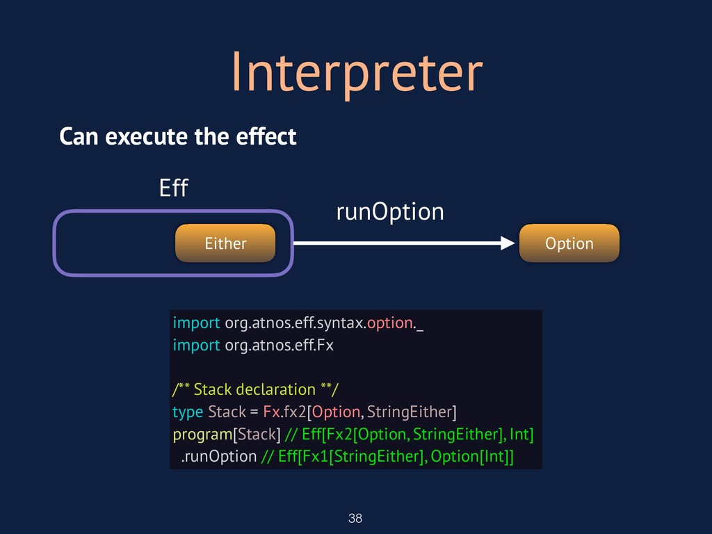 Interpreter 38 import org.atnos.eff.syntax.opti...