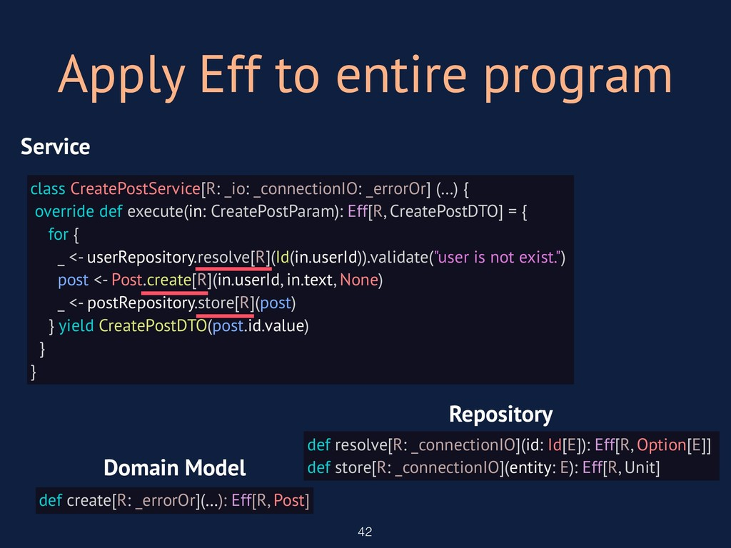 Apply Eff to entire program 42 class CreatePost...