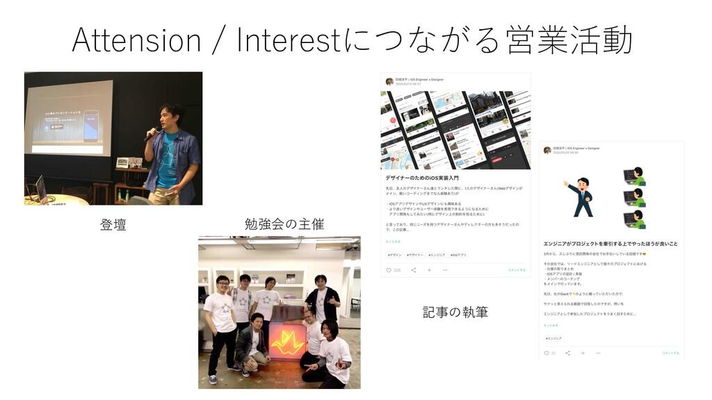 Attension / Interestにつながる営業活動 登壇 勉強会の主催 記事の執筆