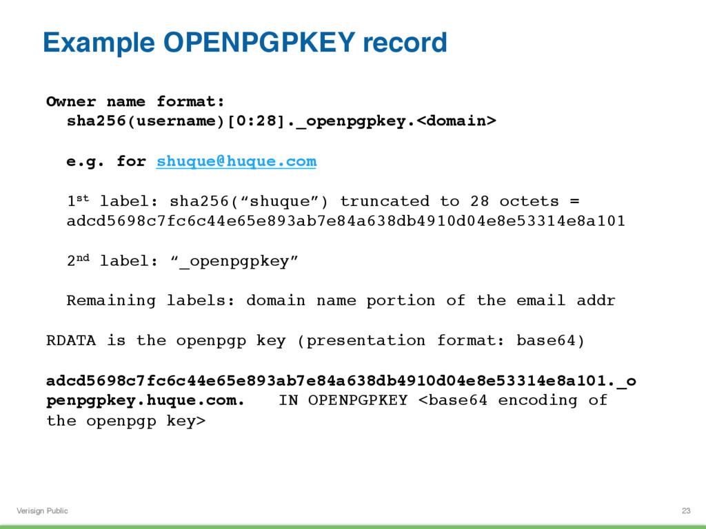 Verisign Public Example OPENPGPKEY record 23 Ow...