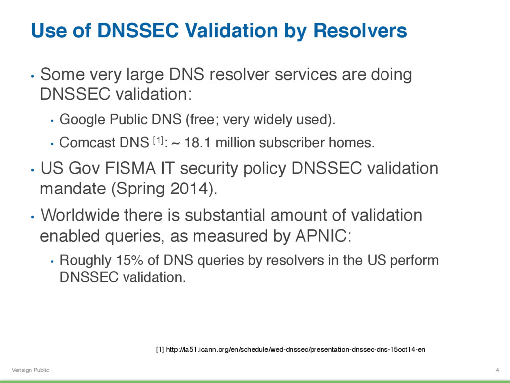 Verisign Public Use of DNSSEC Validation by Res...