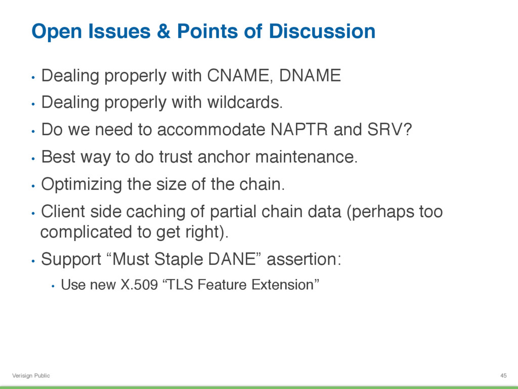 Verisign Public Open Issues & Points of Discuss...