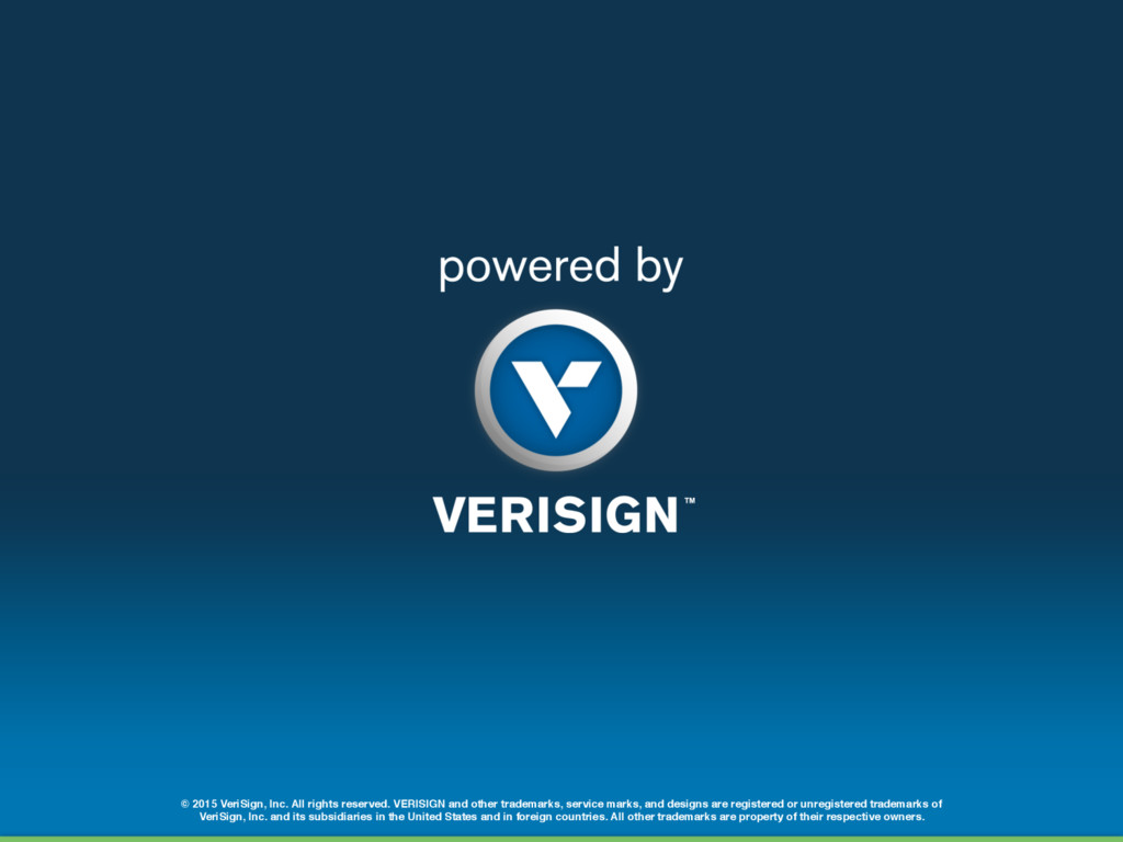 © 2015 VeriSign, Inc. All rights reserved. VERI...