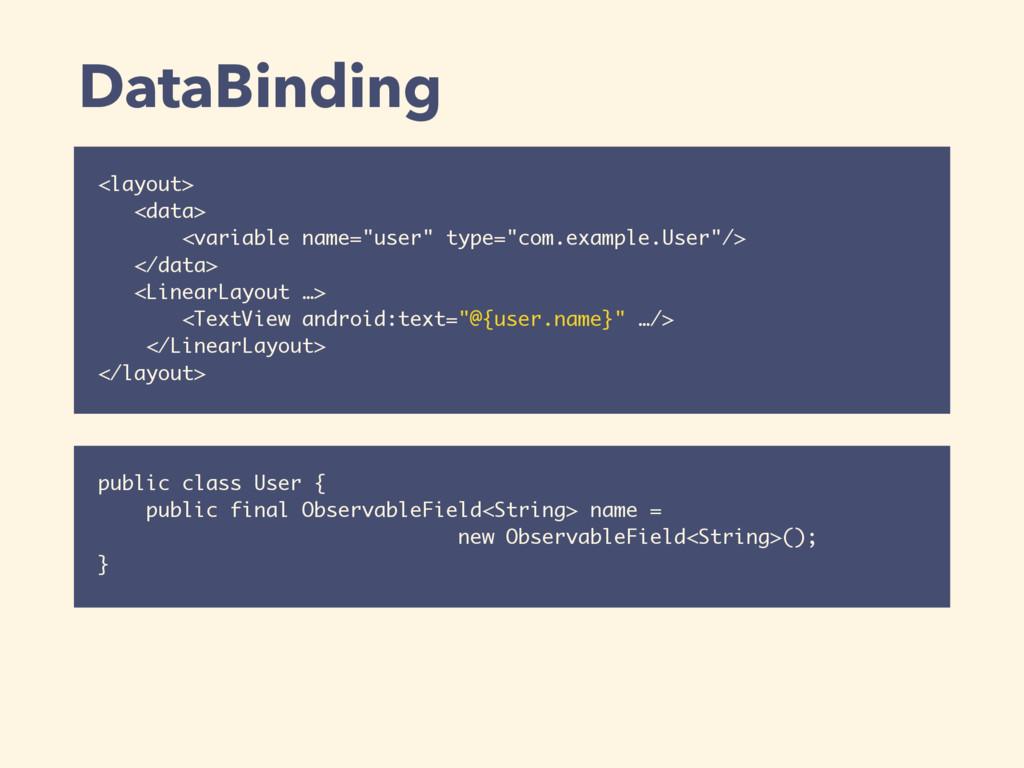 "DataBinding <layout> <data> <variable name=""use..."