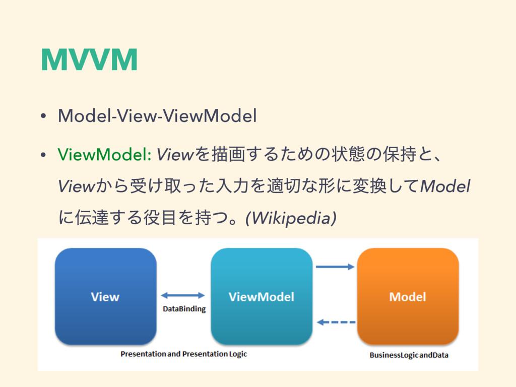 MVVM • Model-View-ViewModel • ViewModel: ViewΛඳ...