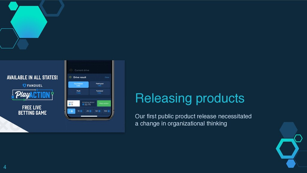 Releasing products Our first public product rel...