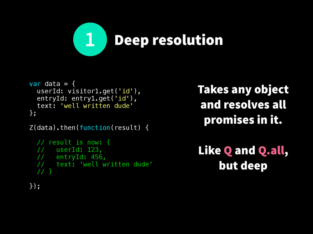 Deep resolution var data = { userId: visitor1.g...