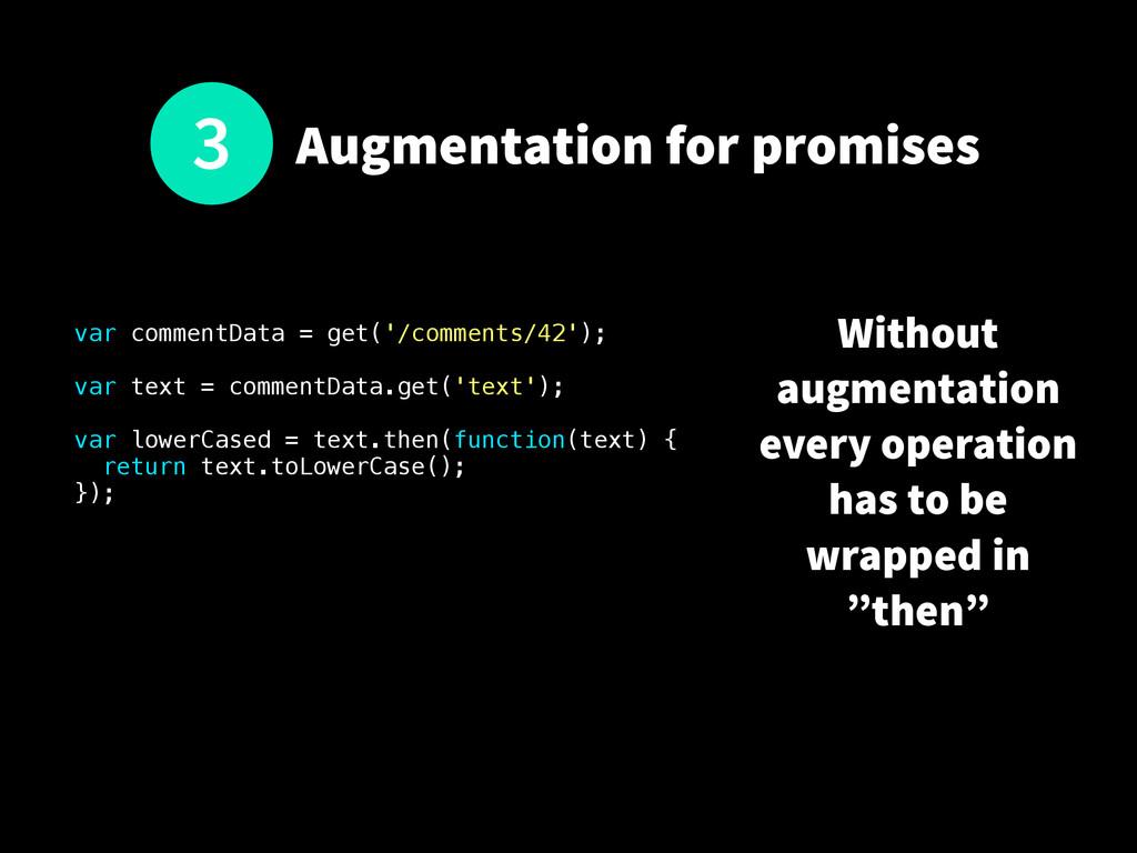 Augmentation for promises var commentData = get...