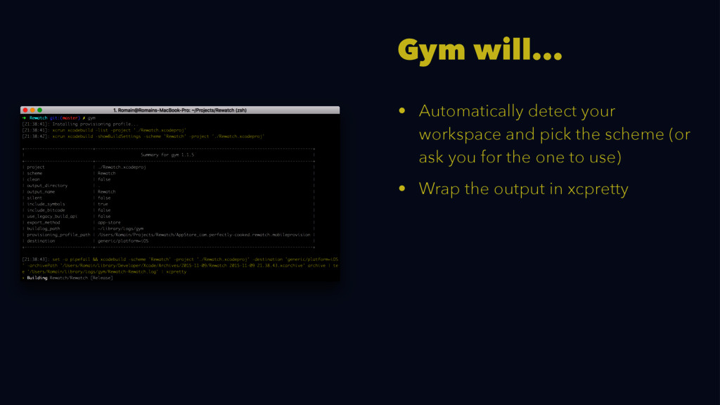 Gym will... • Automatically detect your workspa...