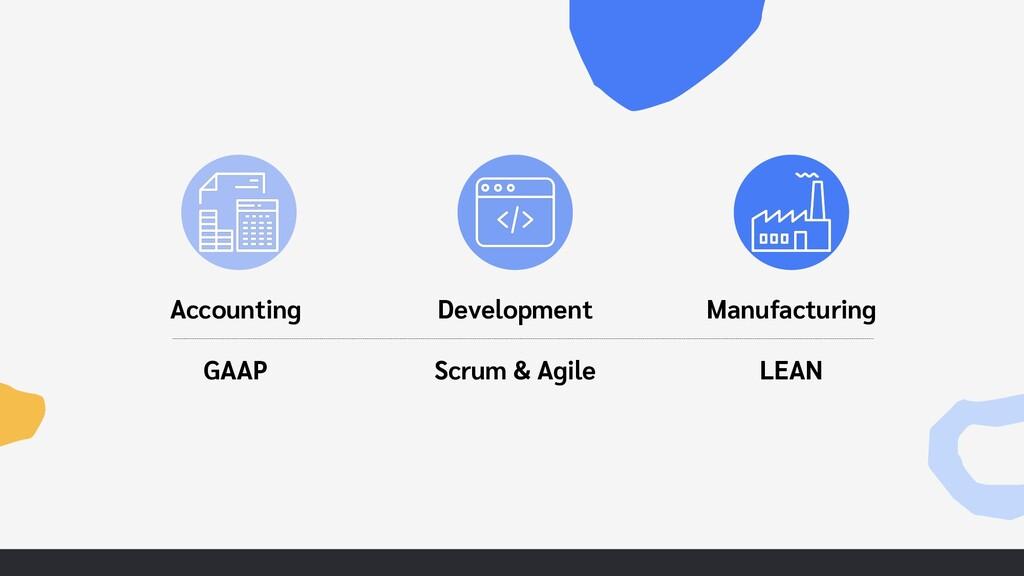 Accounting GAAP Development Scrum & Agile Manuf...