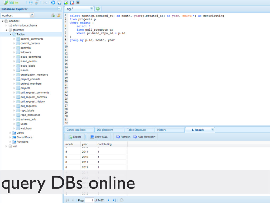 query DBs online