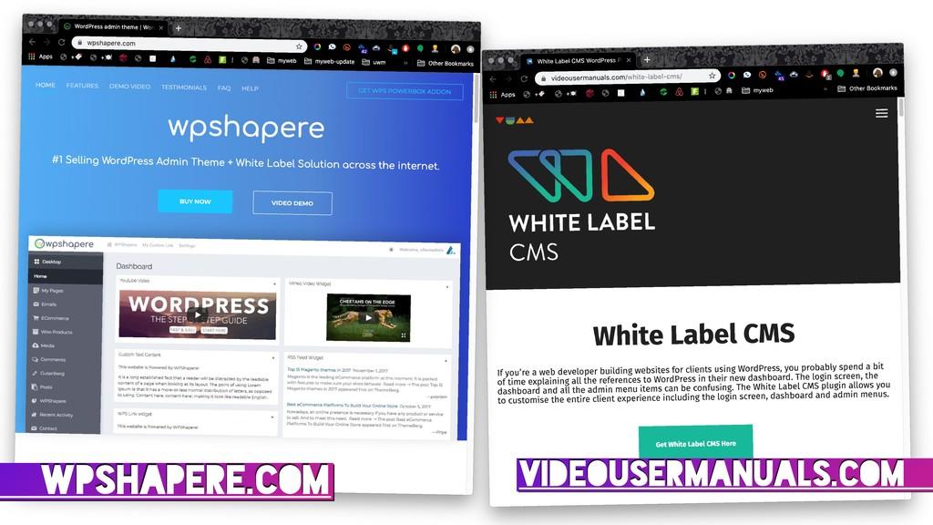 VIDEOUSERMANUALS.COM WPSHAPERE.COM