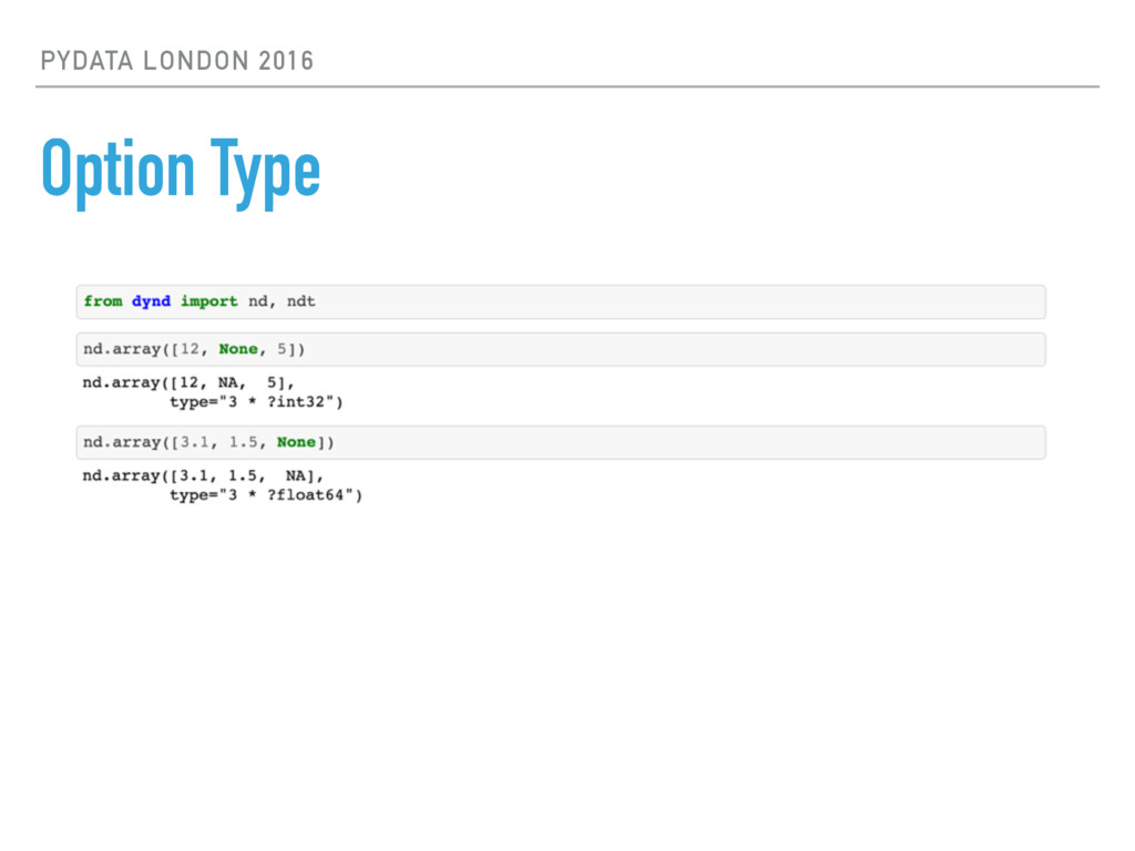 PYDATA LONDON 2016 Option Type
