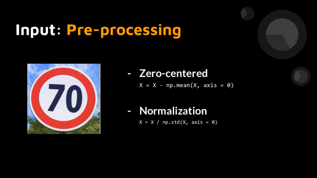 Input: Pre-processing - Zero-centered X = X - n...