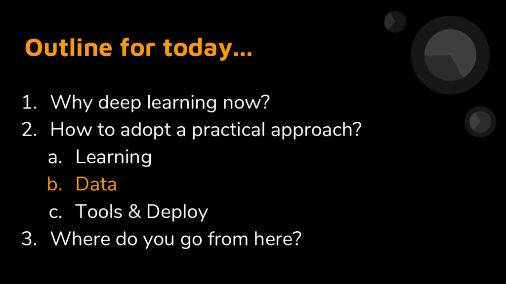 Outline for today... 1. Why deep learning now? ...