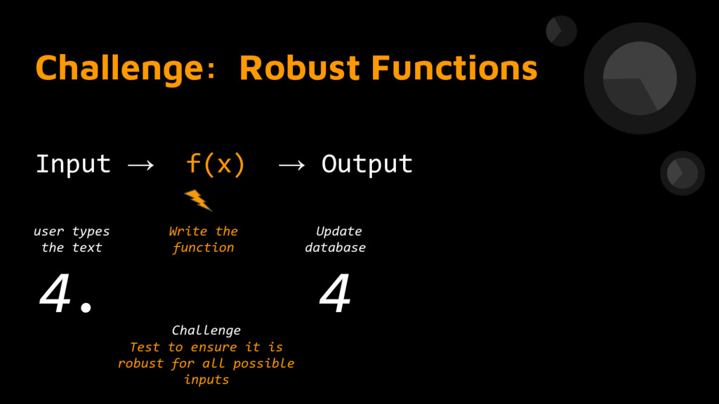 Challenge: Robust Functions Input → f(x) → Outp...