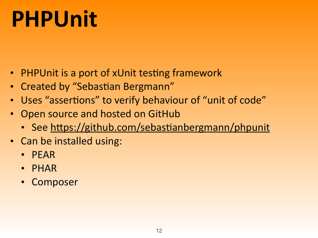 PHPUnit • PHPUnit	