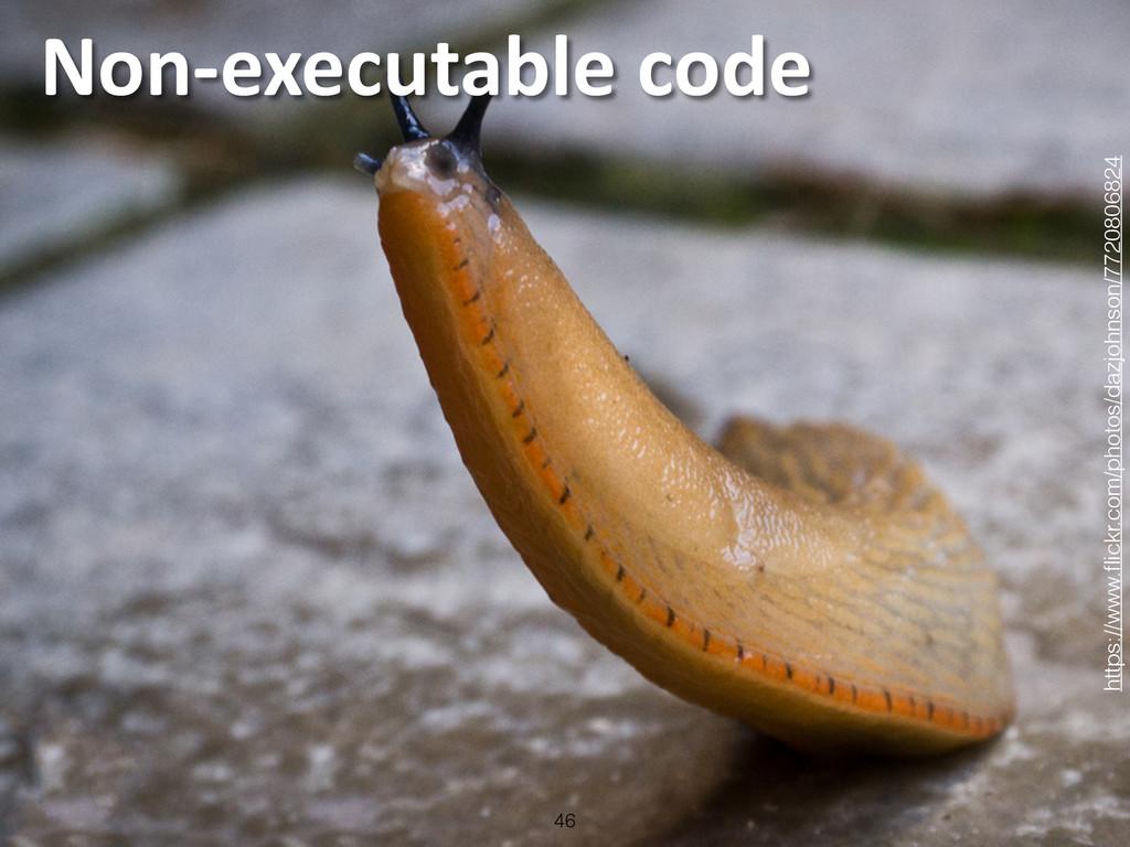 Non-‐executable code 46 https://www.flickr.c...