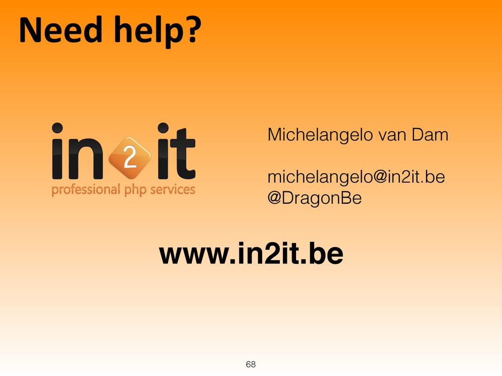 Need help? 68 Michelangelo van Dam ! michela...