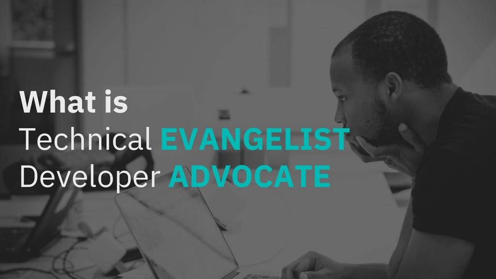 What is Technical EVANGELIST Developer ADVOCATE