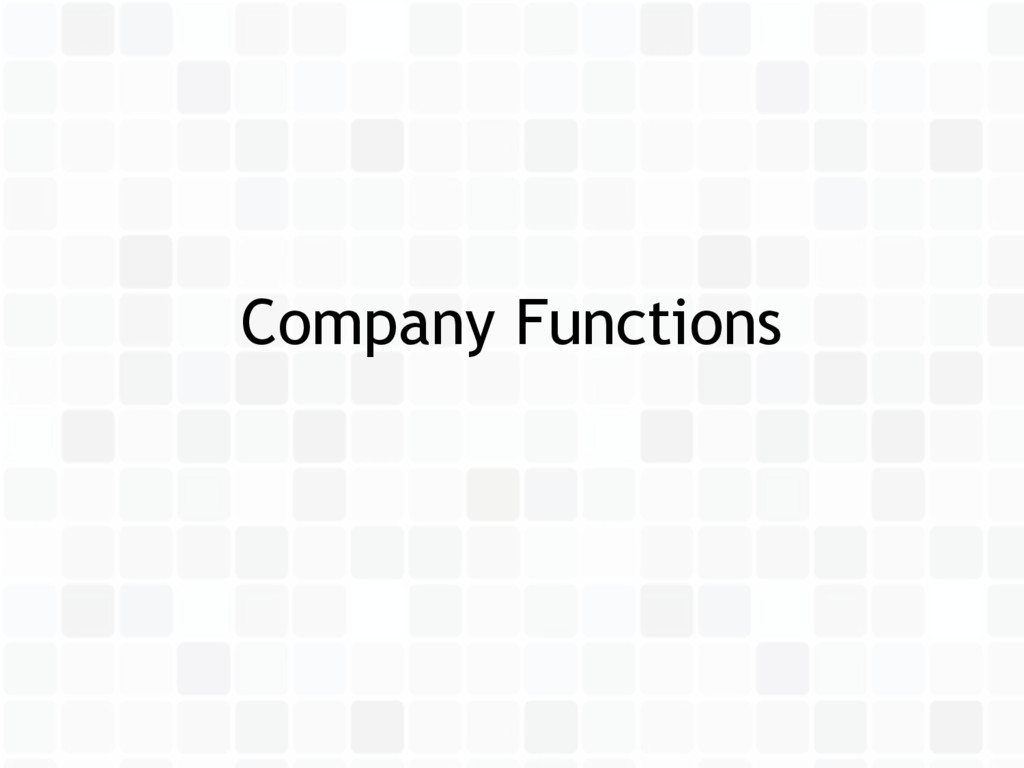 Company Functions