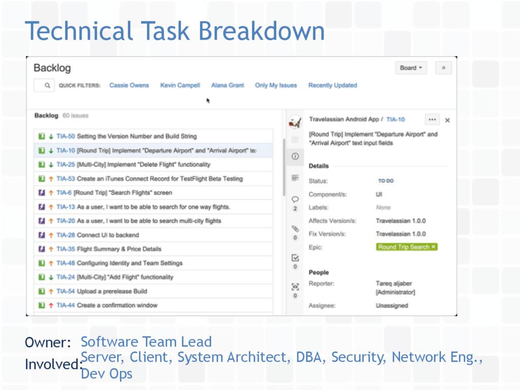 Technical Task Breakdown Owner: Software Team L...