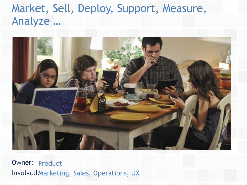 Market, Sell, Deploy, Support, Measure, Analyze...